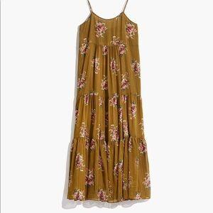 Cami Tier Midi Dress in Metallic Classic Corsage